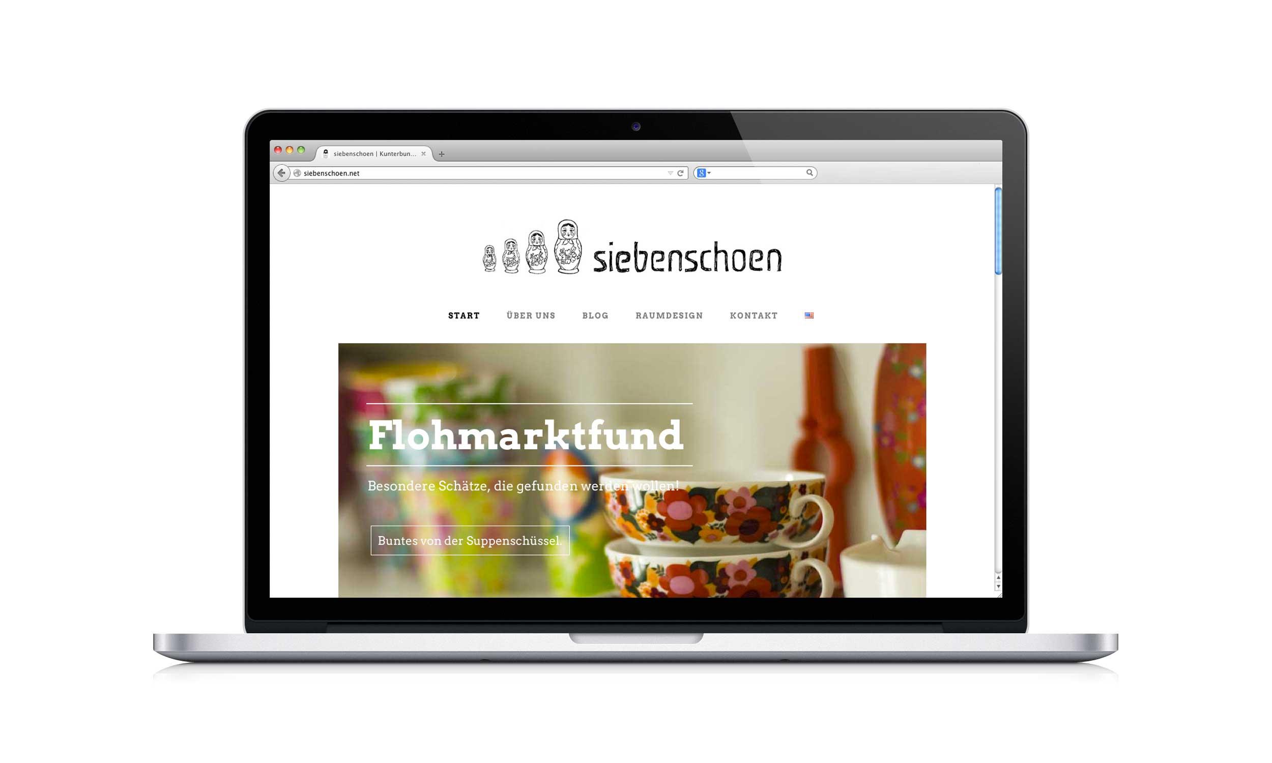 Screendesign siebenschoen Blog
