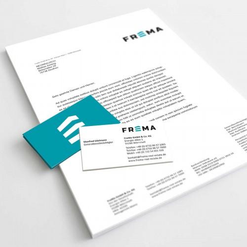 FREMA Logo, Briefbogen und Visitenkarte