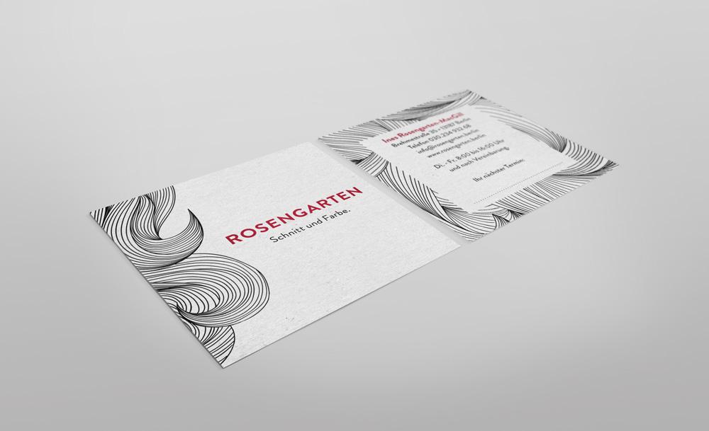 Visitenkarte Rosengarten