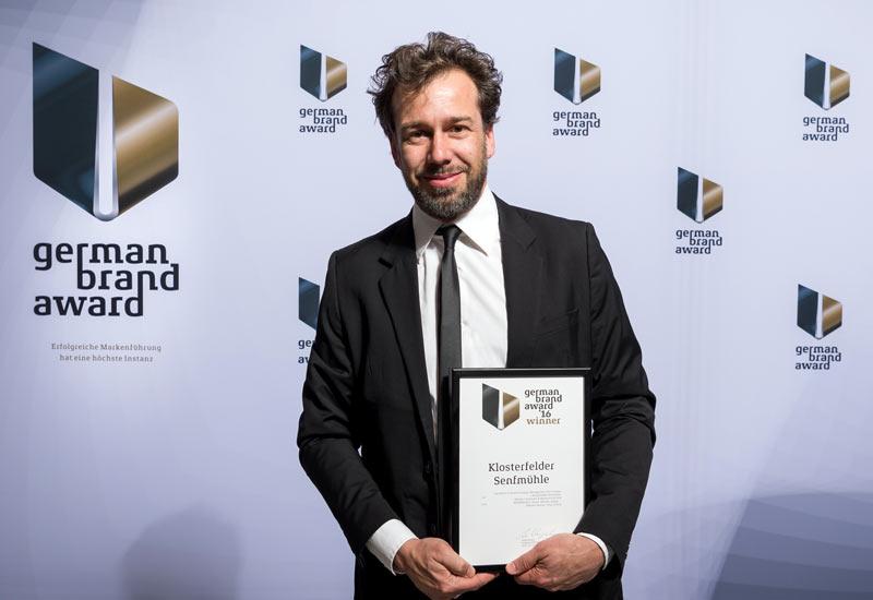 Mattias Zeising beim German Brand Award. Foto: Lutz Sternstein