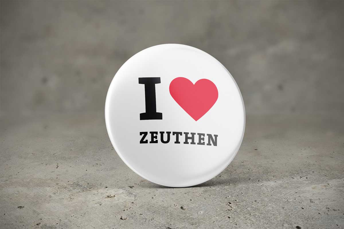 Ansteckbutton I LOVE ZEUTHEN