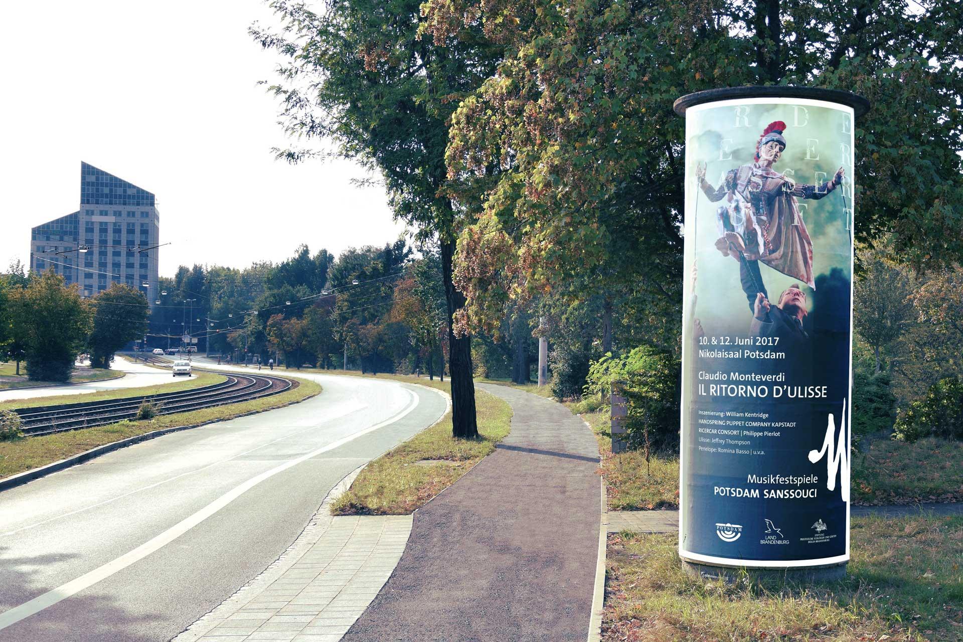 Musikfestspiele Potsdam Plakatmotiv Litfass