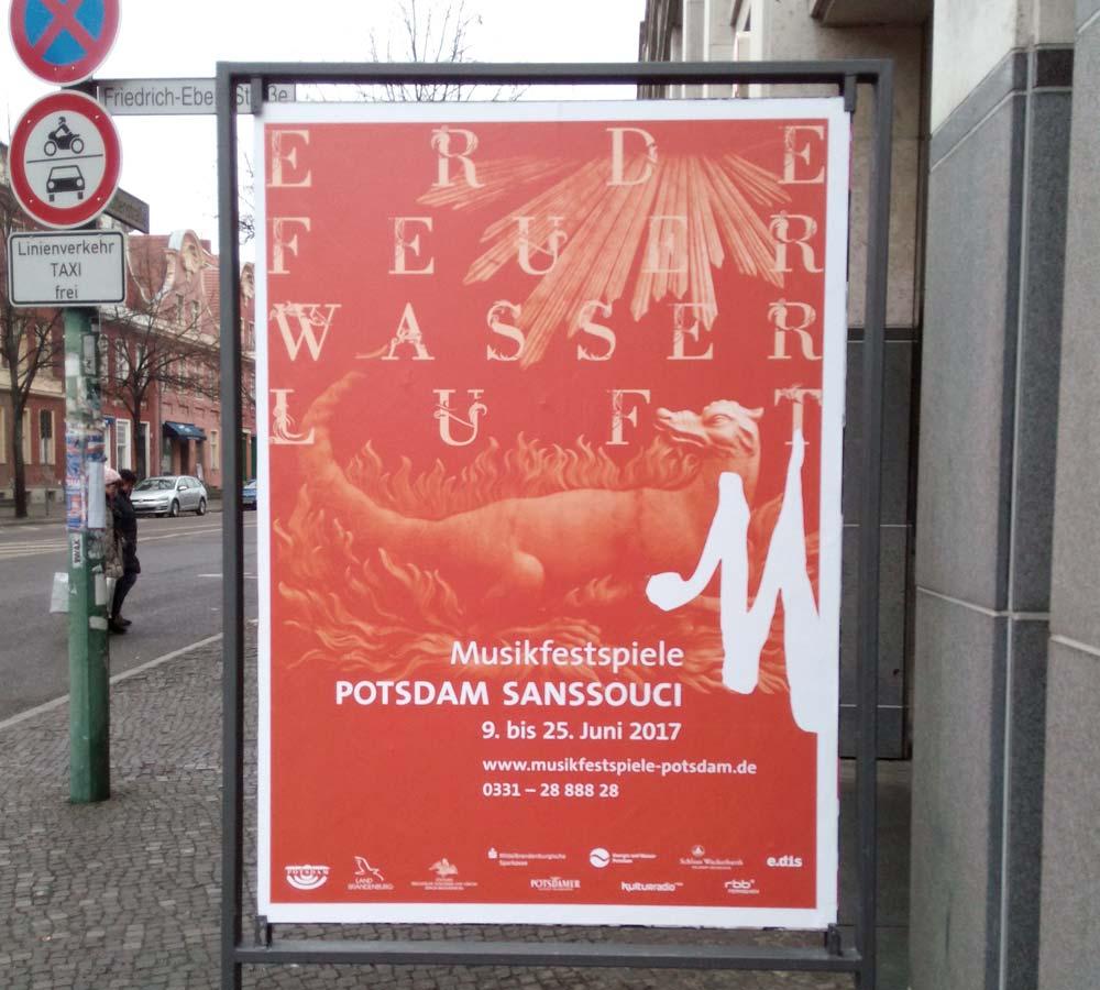 Musikfestspiele Potsdam Sanssouci Plakat Feuer