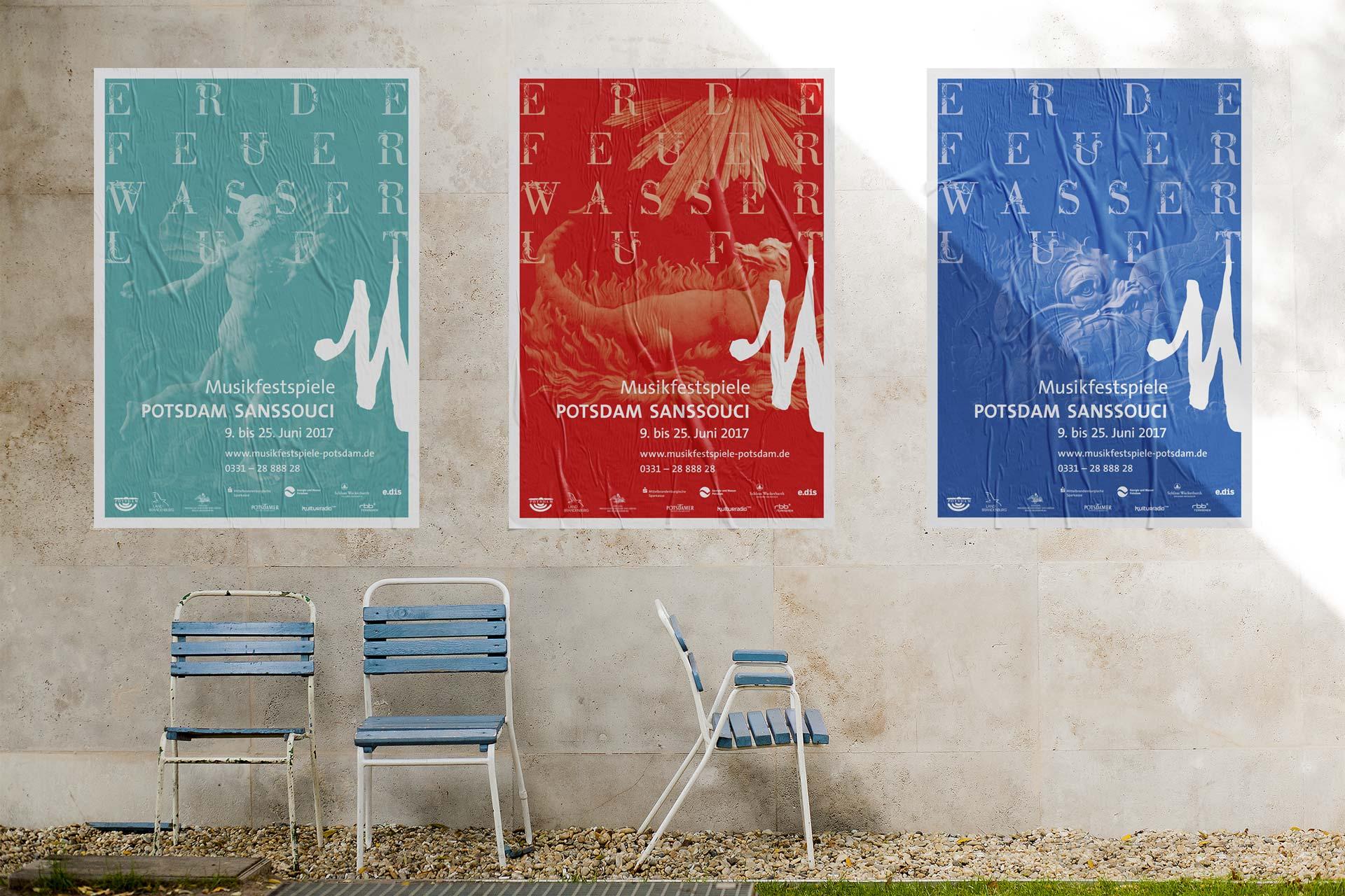 Plakate Musikfestspiele Potsdam Sanssouci