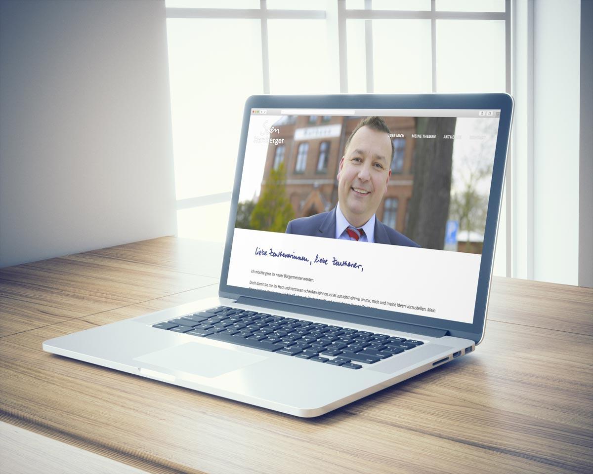 Website zum Wahlkampf von Sven Herzberger