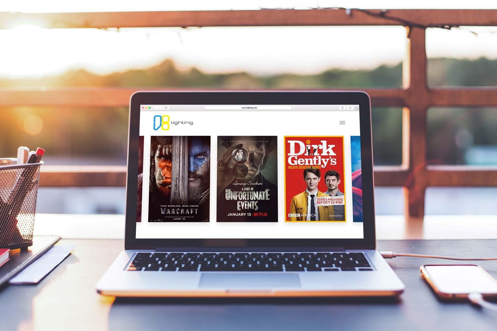 Relaunch der Website von Novo Lighting