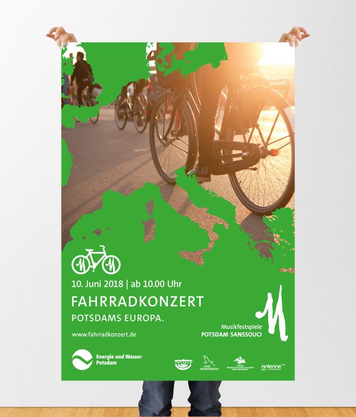 Musikfestspiele Potsdam Sanssouci Plakat Fahrradkonzert