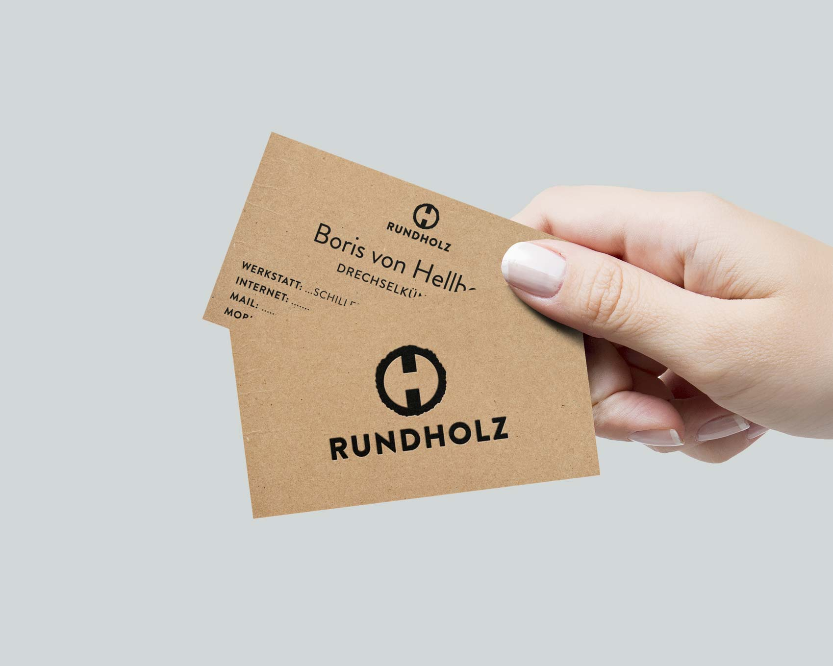 Visitenkarte Rundholz, Boris von Hellborn