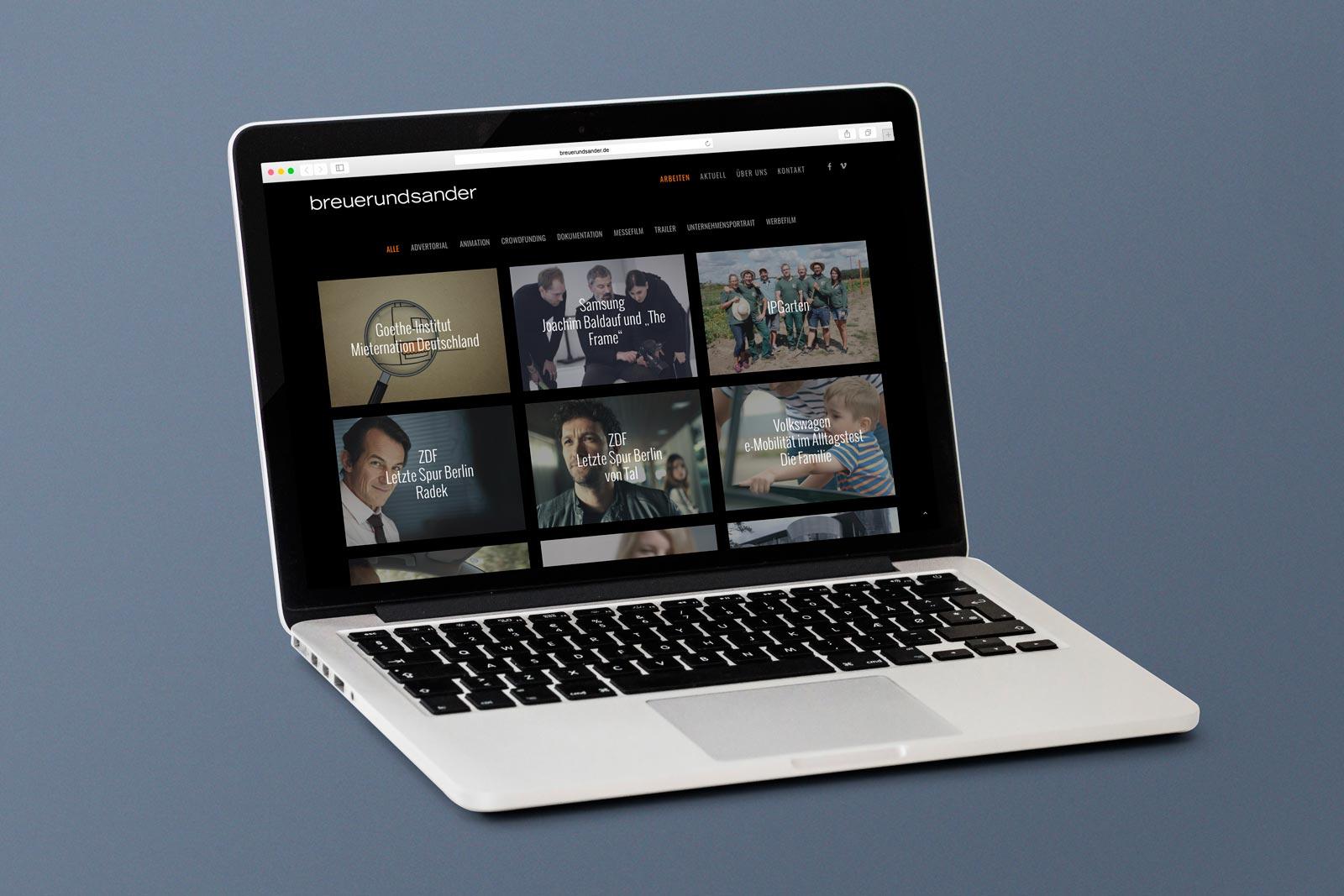 Website breuerundsander Arbeiten