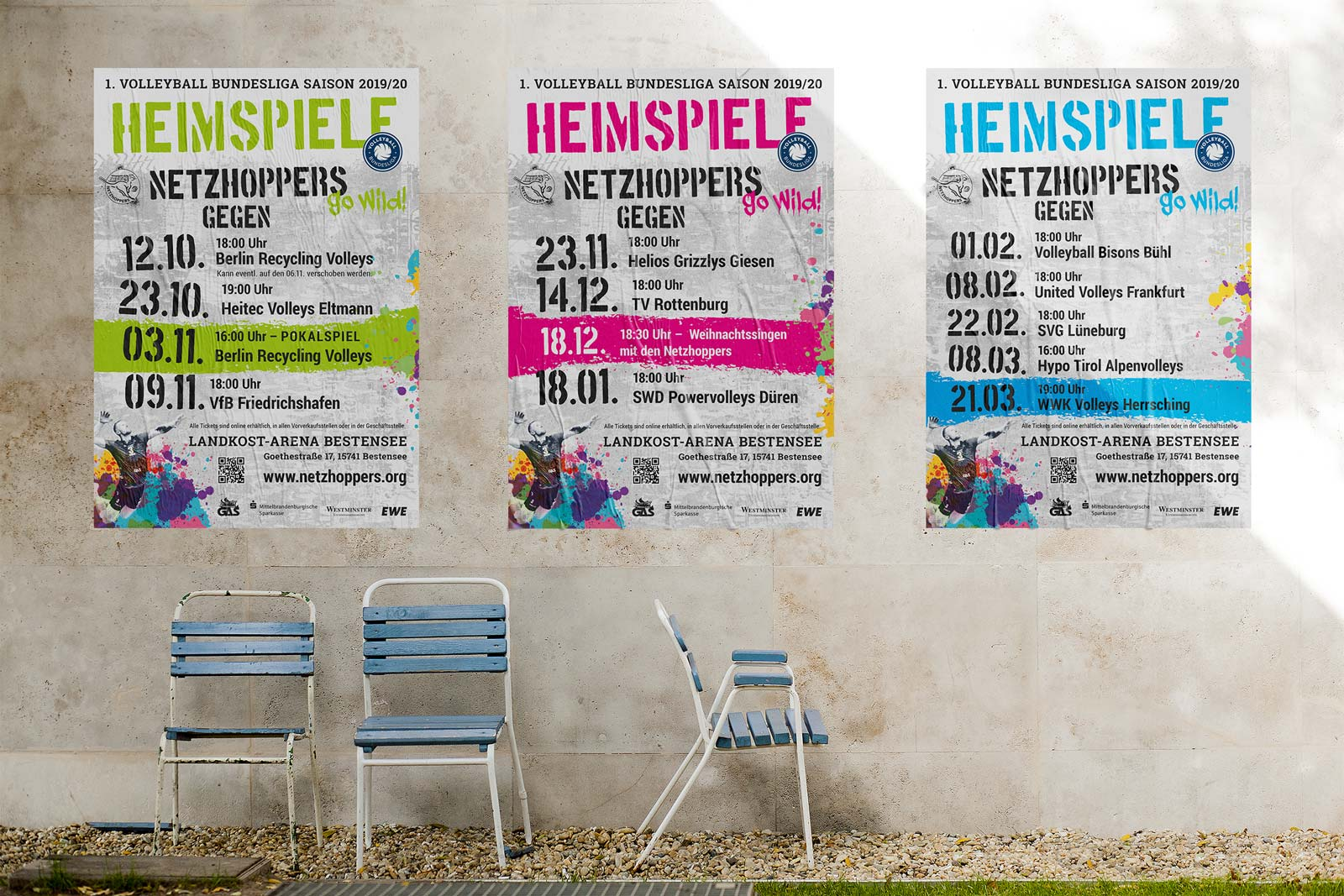Netzhoppers Plakatdesign