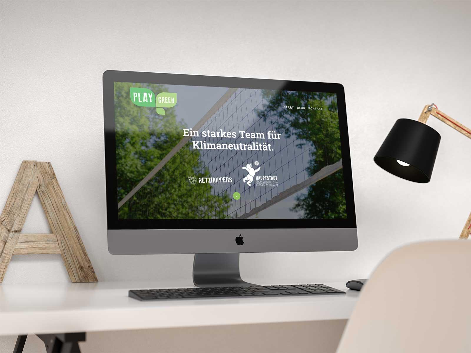 Play green Kampagnenwebsite